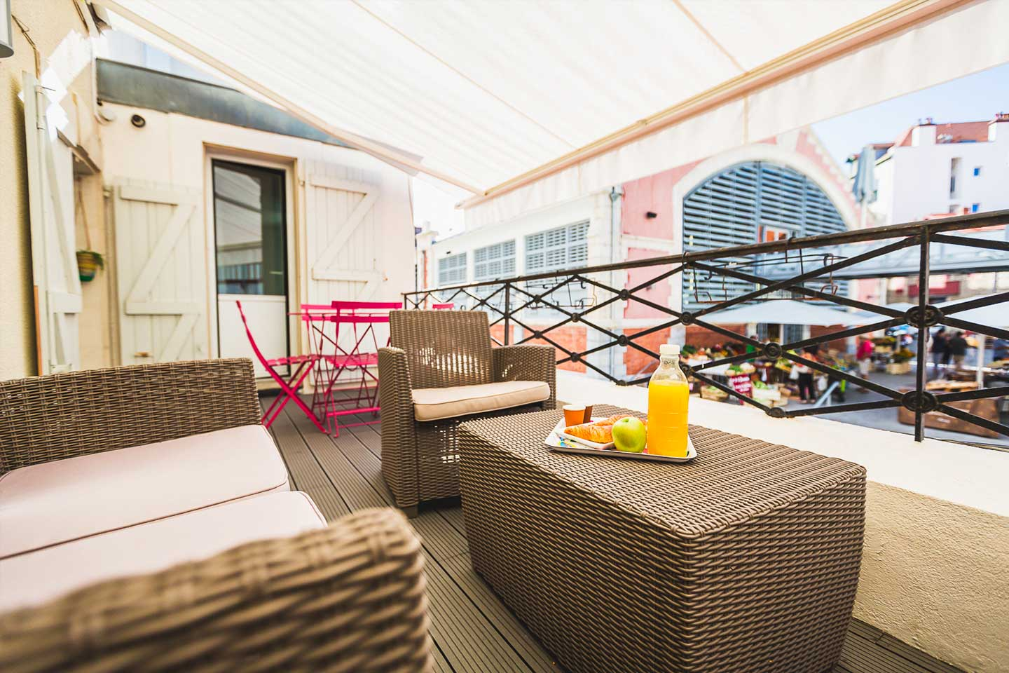 TERRASSE Rent an apartment with terrace in Biarritz