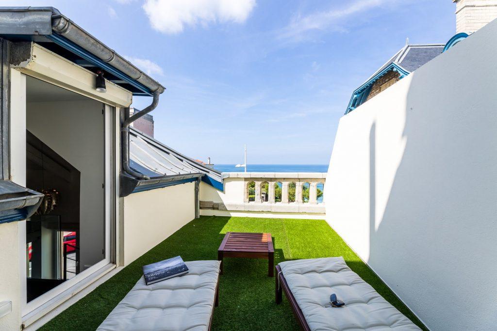 appartement à louer biarritz keyweek alma terrasse
