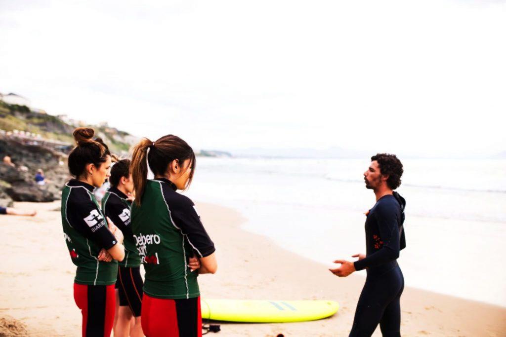 cours de surf vacances de pâques 2020
